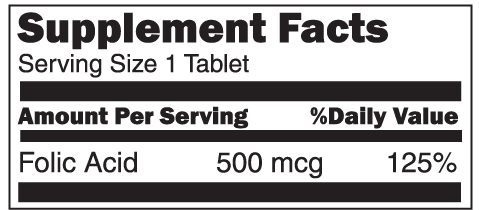Folic Acid 500mg