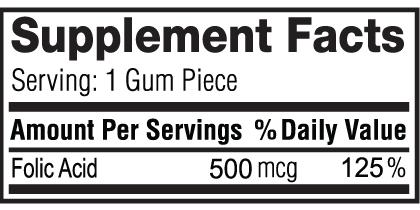 Folic Acid Gum