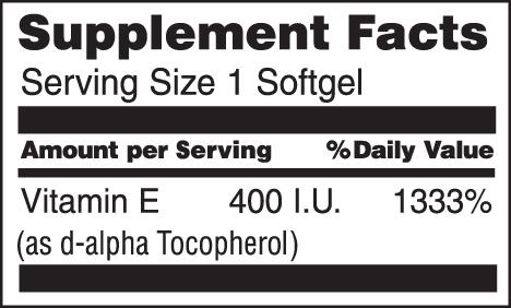 Natural Vitamin E 400 I.U.