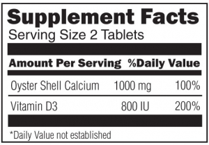Oyster Shell Calcium with Vitamin D 800IU