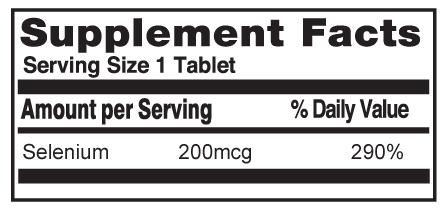 Selenium Yeast 200mcg