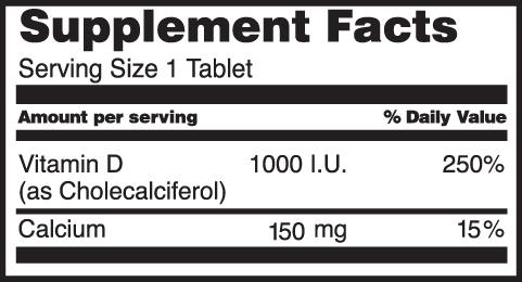 Vitamin D3 1000 I.U