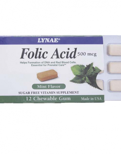 Folic Acid 500 mcg Gum