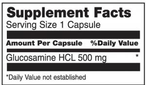 Glucosamine 500mg